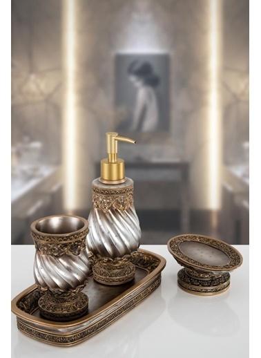 İrya Queen Bronz 4 Prc Banyo Setı Bronz